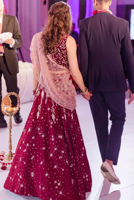 Beautiful Burgundy Hindu Fusion Wedding – Danielle Harris Photography 62