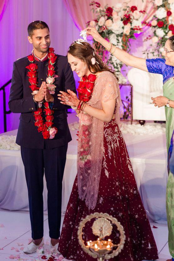Beautiful Burgundy Hindu Fusion Wedding – Danielle Harris Photography 63