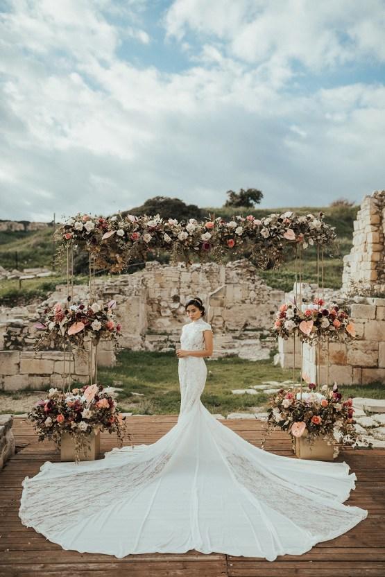 Burgundy & Gold Greek Wedding Inspiration – Aziz Altaany Photography – Bride Diaries 10