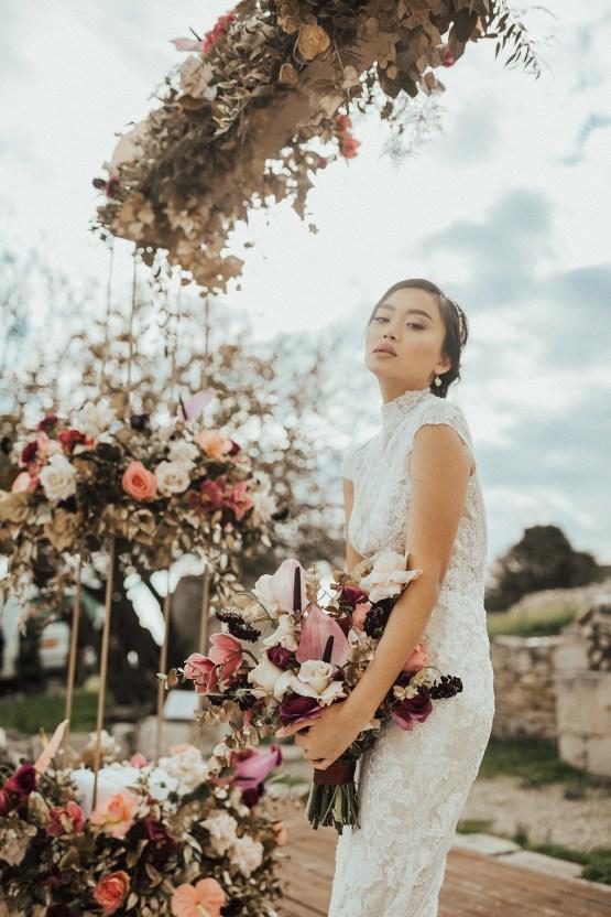 Burgundy & Gold Greek Wedding Inspiration – Aziz Altaany Photography – Bride Diaries 11
