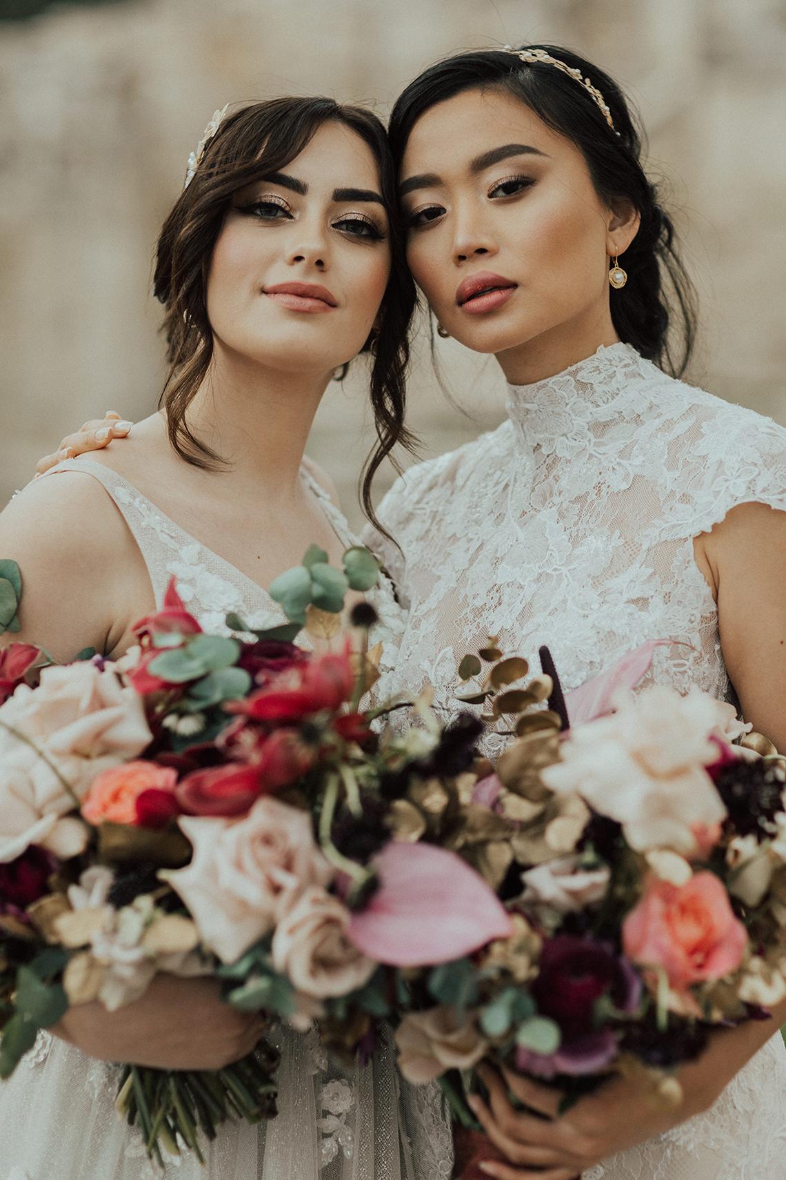 Burgundy & Gold Greek Wedding Inspiration – Aziz Altaany Photography – Bride Diaries 13