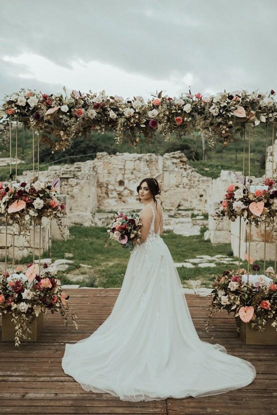 Burgundy & Gold Greek Wedding Inspiration – Aziz Altaany Photography – Bride Diaries 14