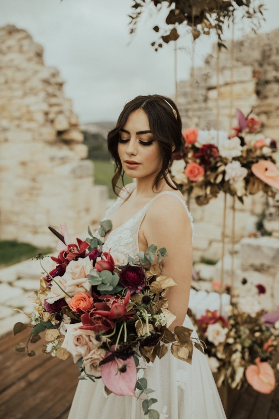 Burgundy & Gold Greek Wedding Inspiration – Aziz Altaany Photography – Bride Diaries 15