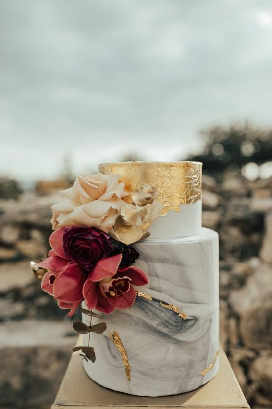Burgundy & Gold Greek Wedding Inspiration – Aziz Altaany Photography – Bride Diaries 17