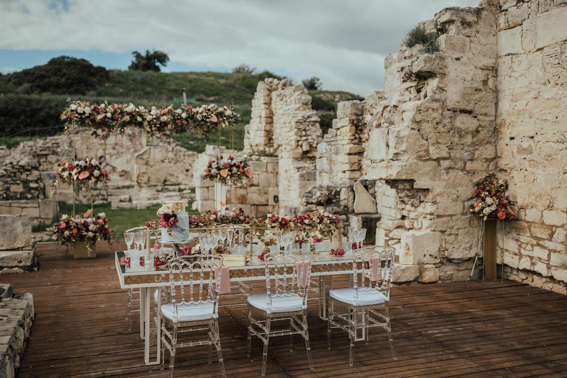 Burgundy & Gold Greek Wedding Inspiration – Aziz Altaany Photography – Bride Diaries 18