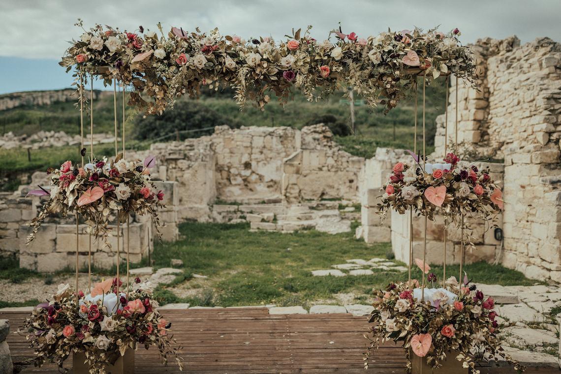 Burgundy & Gold Greek Wedding Inspiration – Aziz Altaany Photography – Bride Diaries 19