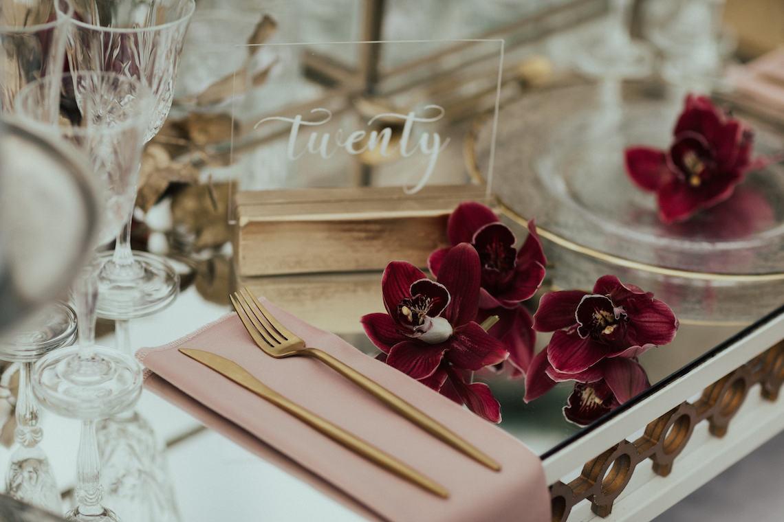 Burgundy & Gold Greek Wedding Inspiration – Aziz Altaany Photography – Bride Diaries 20