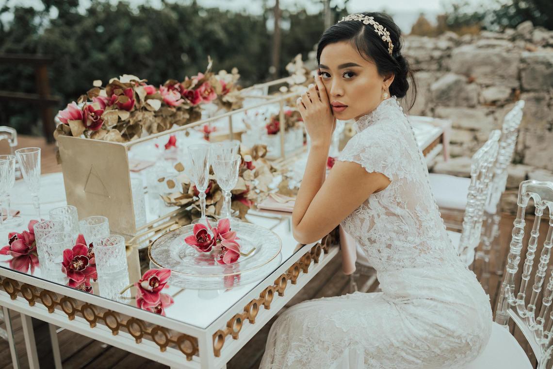 Burgundy & Gold Greek Wedding Inspiration – Aziz Altaany Photography – Bride Diaries 22