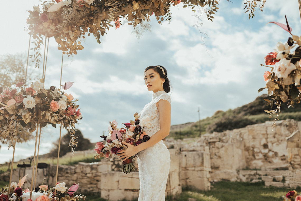 Burgundy & Gold Greek Wedding Inspiration – Aziz Altaany Photography – Bride Diaries 24