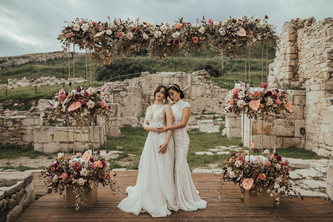 Burgundy & Gold Greek Wedding Inspiration – Aziz Altaany Photography – Bride Diaries 25