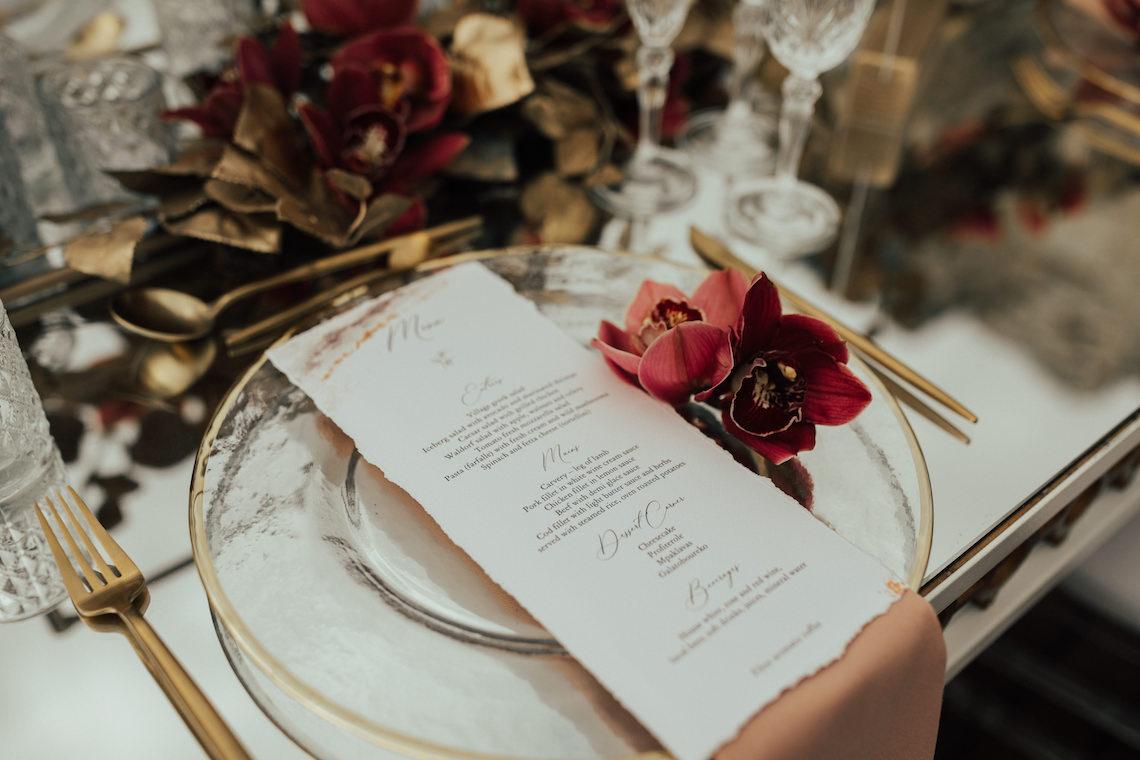 Burgundy & Gold Greek Wedding Inspiration – Aziz Altaany Photography – Bride Diaries 27