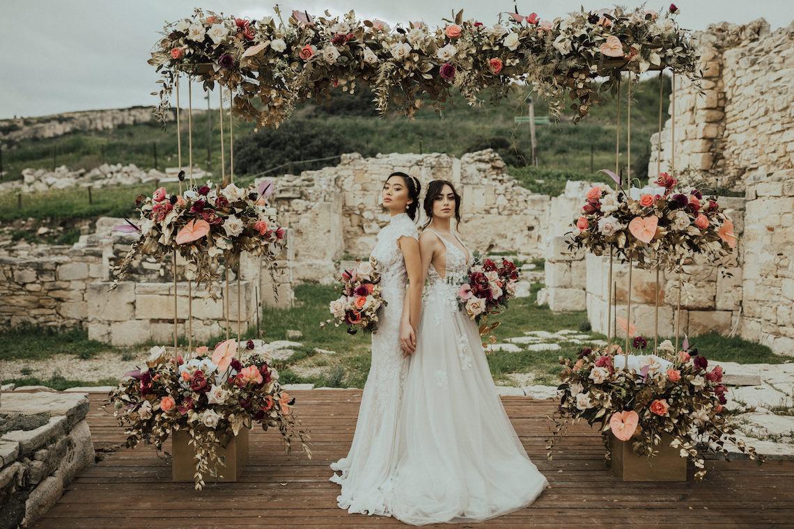 Burgundy & Gold Greek Wedding Inspiration – Aziz Altaany Photography – Bride Diaries 28