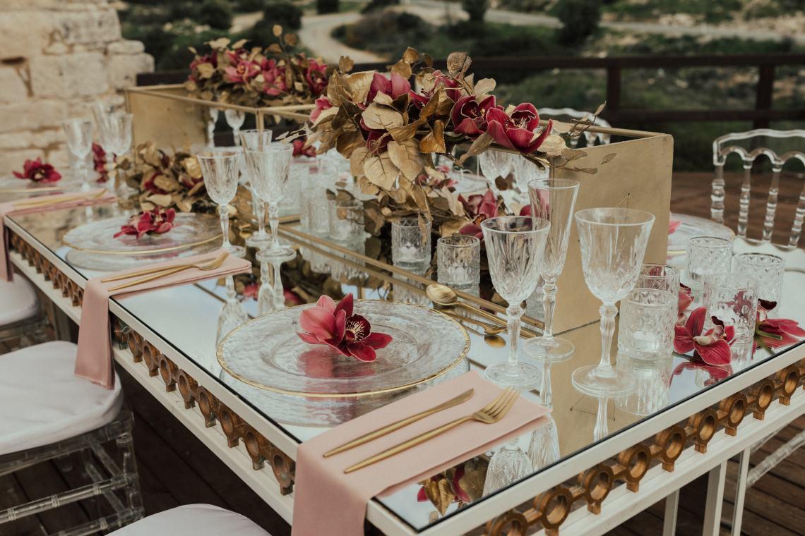Burgundy & Gold Greek Wedding Inspiration – Aziz Altaany Photography – Bride Diaries 30