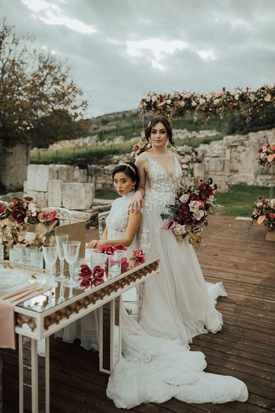 Burgundy & Gold Greek Wedding Inspiration – Aziz Altaany Photography – Bride Diaries 4