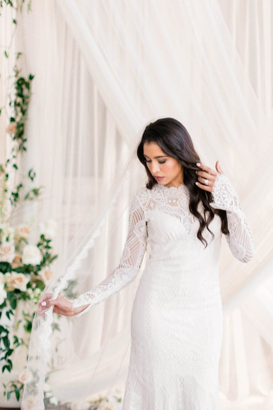 Draped Elegance – Luxurious Indoor Wedding Inspiratoin – Danielle Harris Photography 42