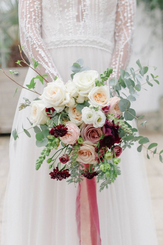 Elegant Berry and Cherry Red Wedding Inspiration – Claire Graham Photography 34