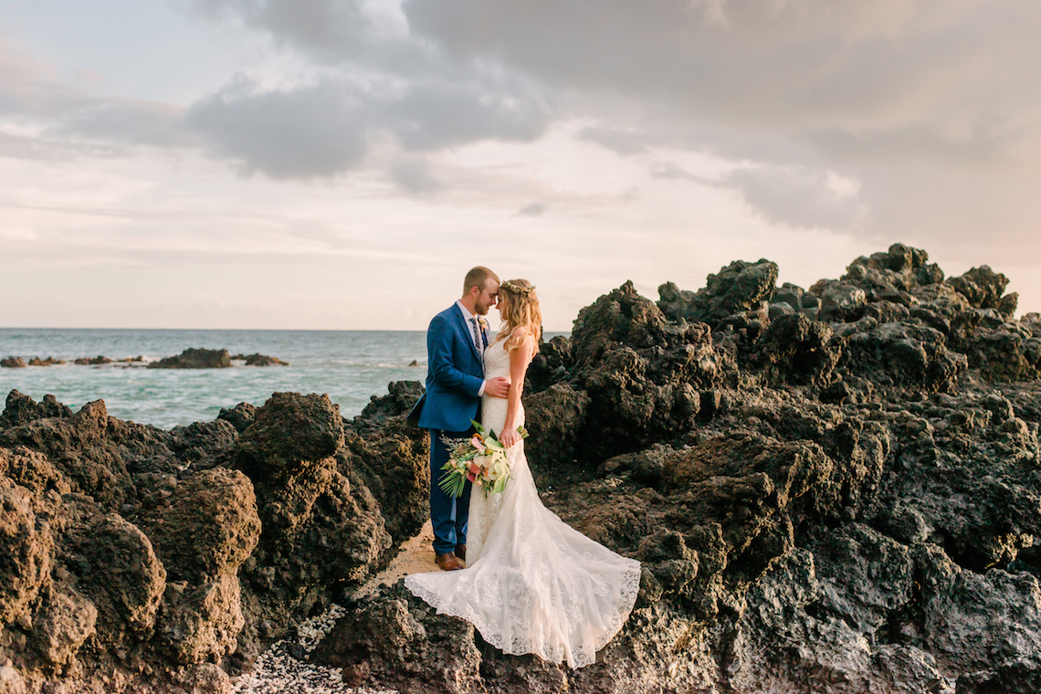 Tropical Maui Lava Field Wedding – Marlayna Photography 10