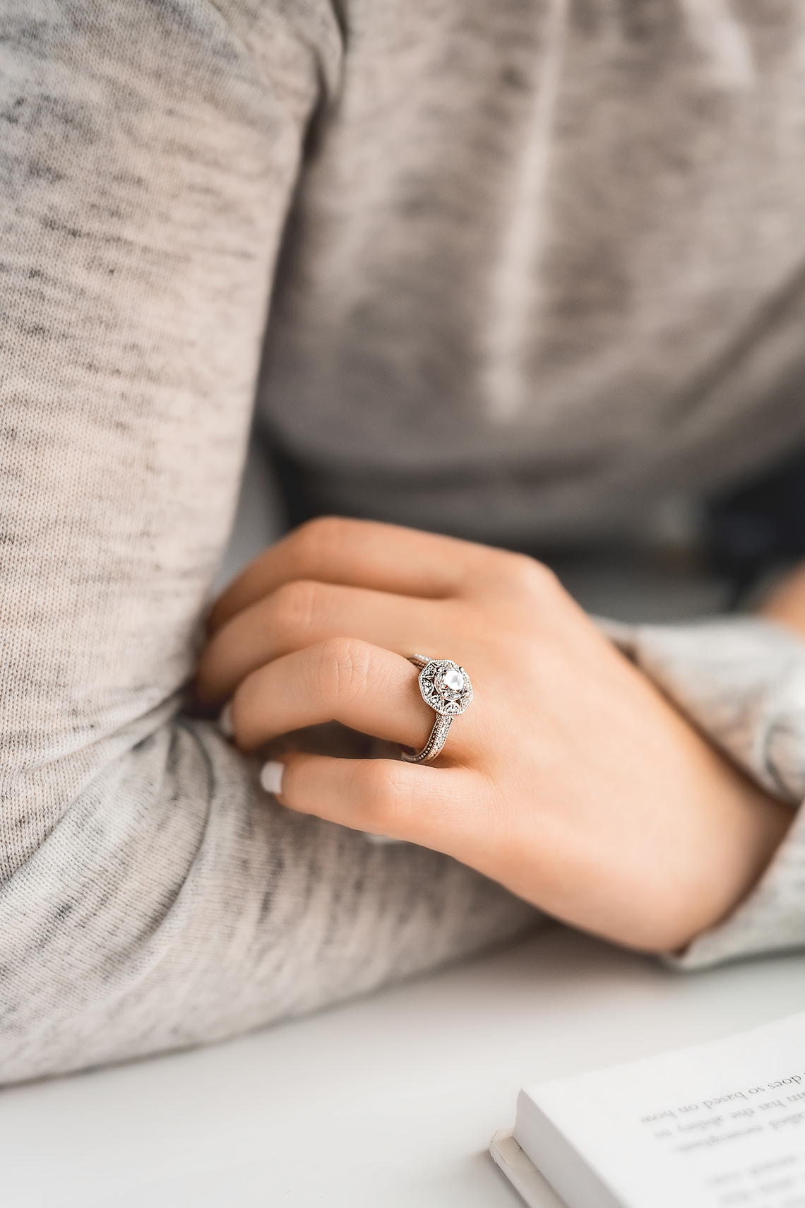 Romantic Vintage Inspired Eco Friendly MiaDonna Engagement Rings – Morrison-ER-Lifestyle-04