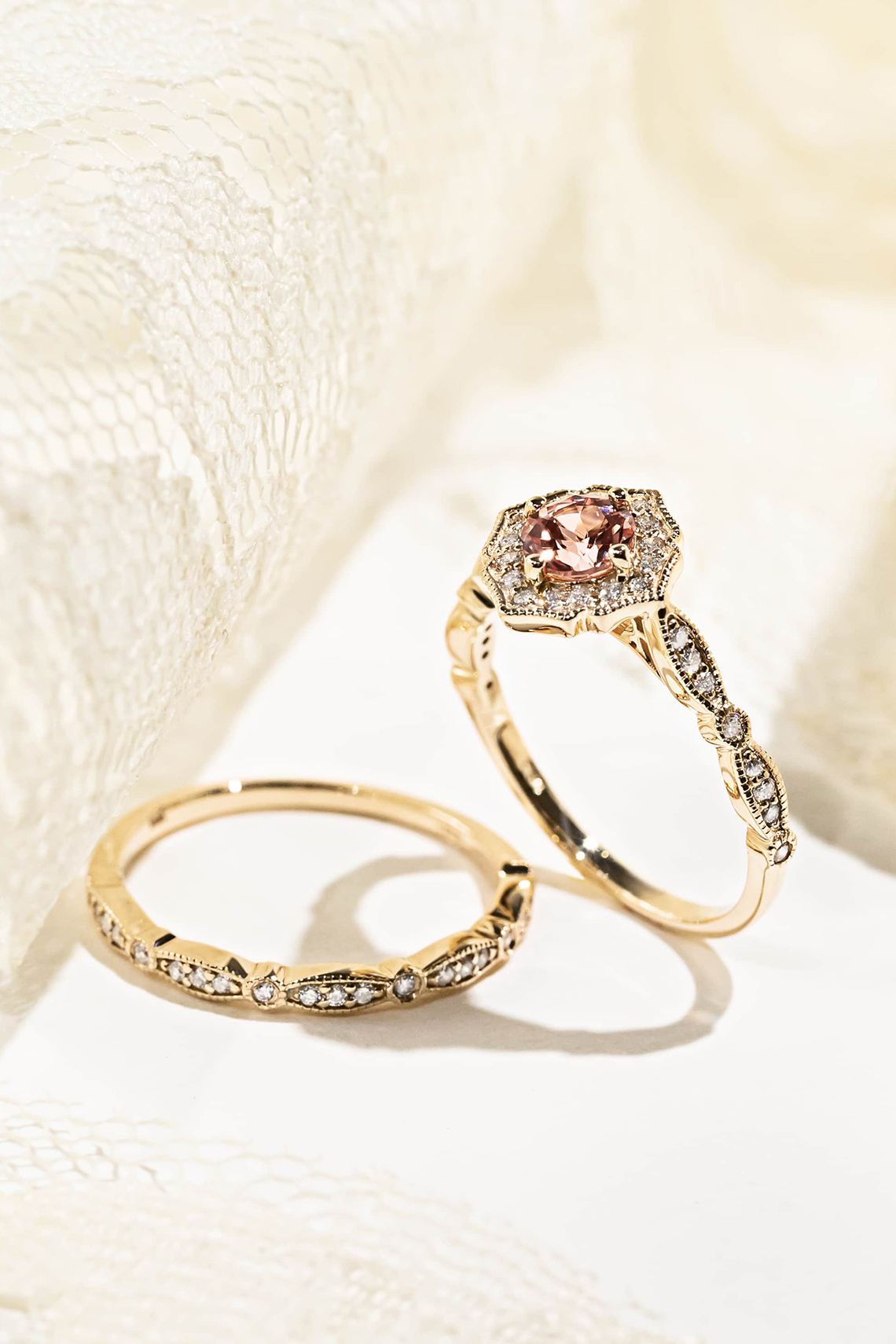 Romantic Vintage Inspired Eco Friendly MiaDonna Engagement Rings – Paris-Stackable-WS-05-Lifestyle (1) (1)
