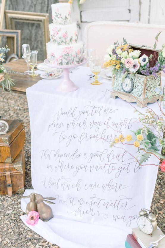 Whimsical Blue Alice and Wonderland Wedding Inspiration – Stephanie Weber Photography 35