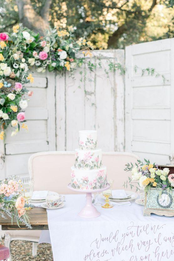 Whimsical Blue Alice and Wonderland Wedding Inspiration – Stephanie Weber Photography 36
