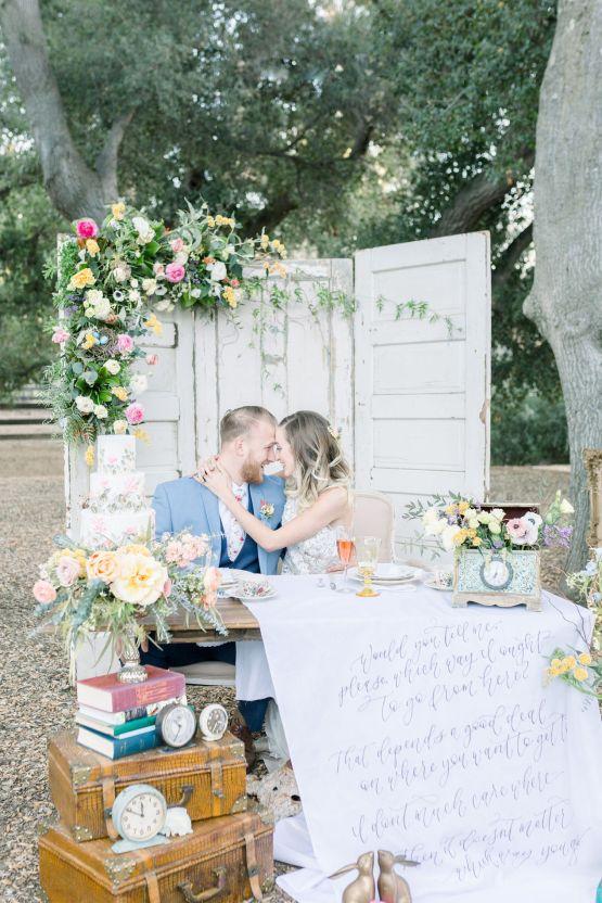 Whimsical Blue Alice and Wonderland Wedding Inspiration – Stephanie Weber Photography 38