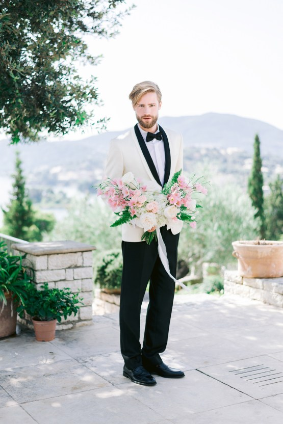 Modern Fashion-Forward Black White and Pink Greek Wedding Inspiration – Panos Demiropoulos 10