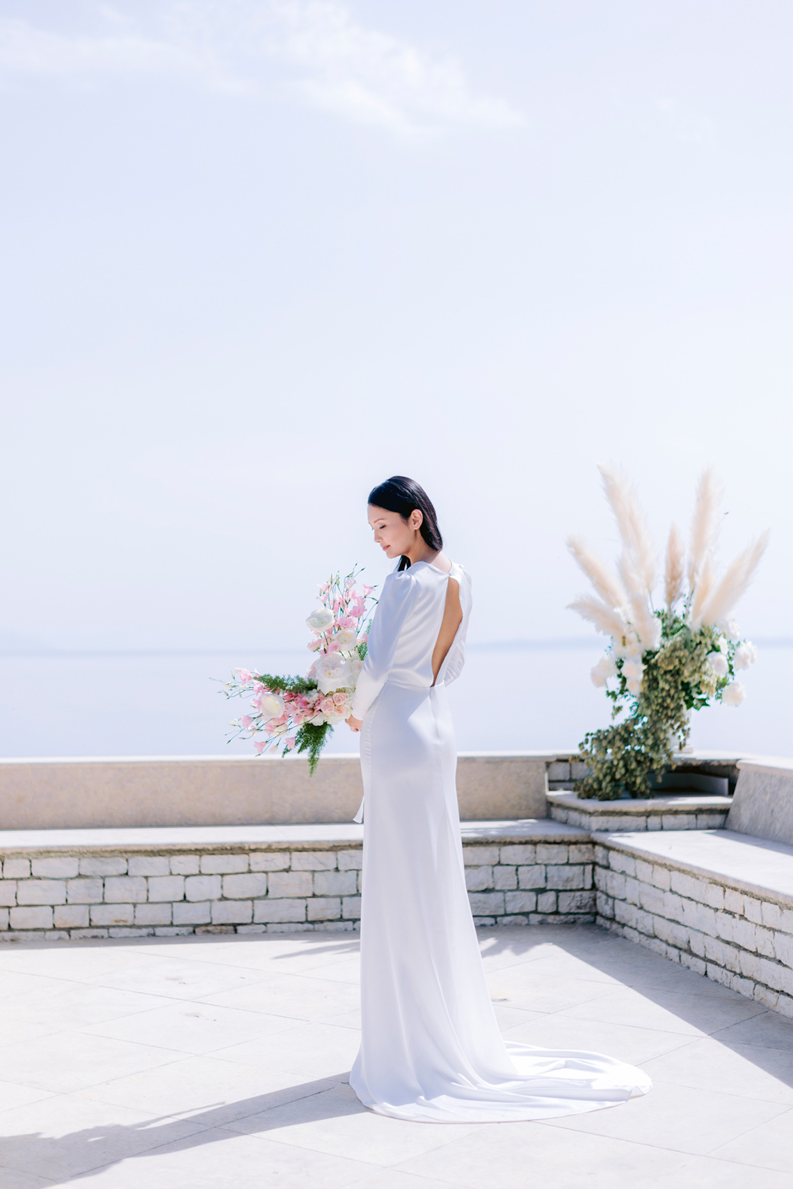 Modern Fashion-Forward Black White and Pink Greek Wedding Inspiration – Panos Demiropoulos 15