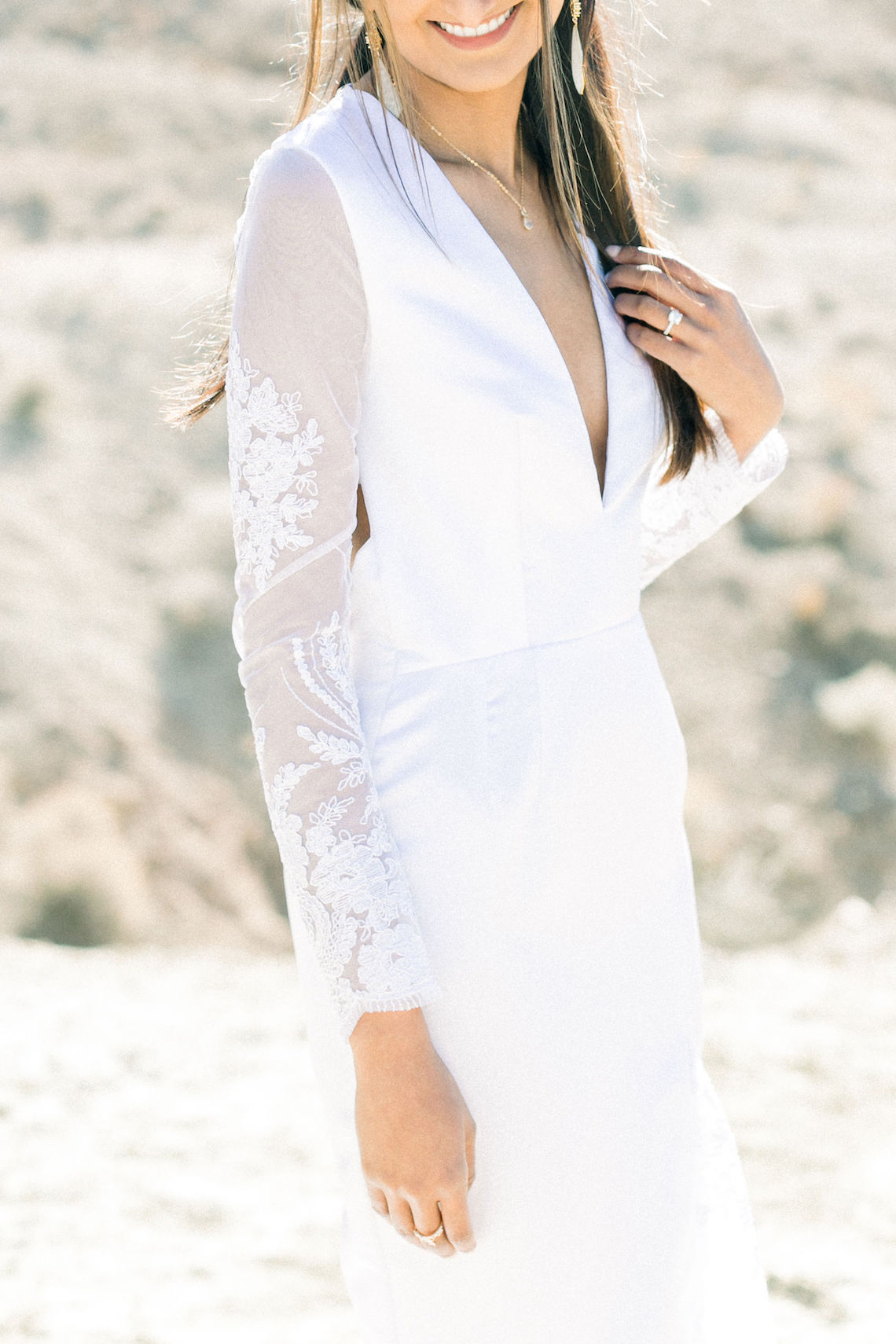 Rainbow Basin Desert Wedding Inspiration with Moon Stationery – Victoria Masai Photography 12