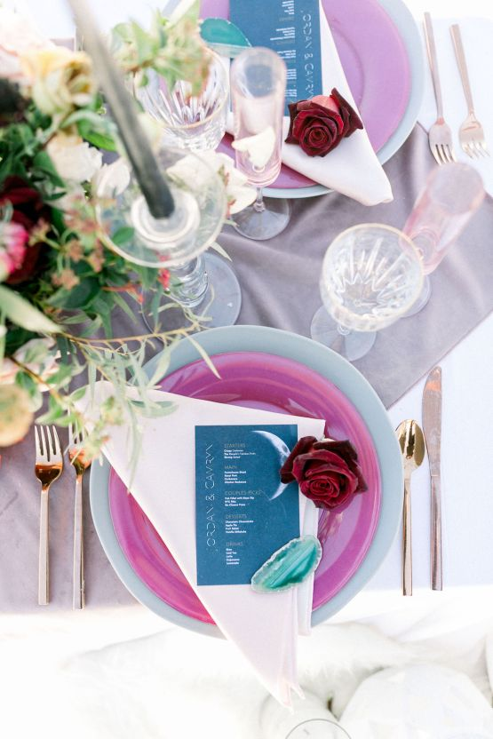 Rainbow Basin Desert Wedding Inspiration with Moon Stationery – Victoria Masai Photography 21