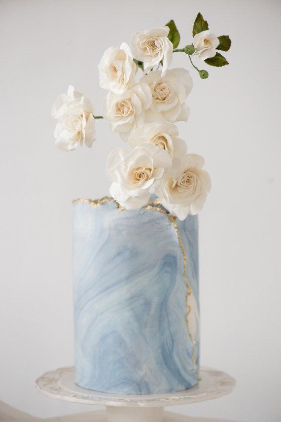Something Blue Wedding Dessert and Cake Inspiration – Cipriano Palmer Photography 19