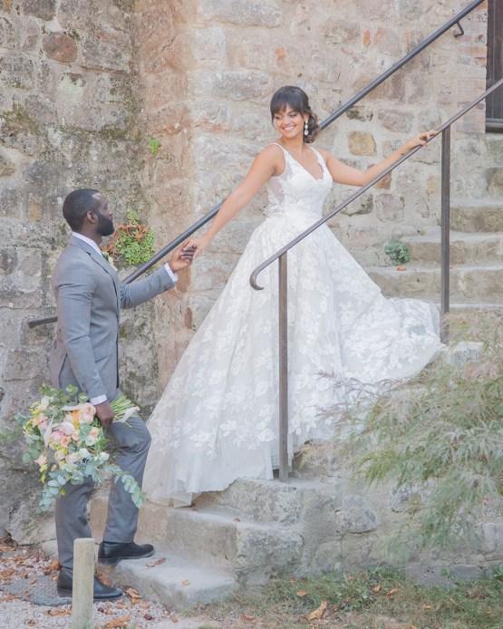 Autumn French Chateau Peach Wedding Inspiration – Szu Designs 26