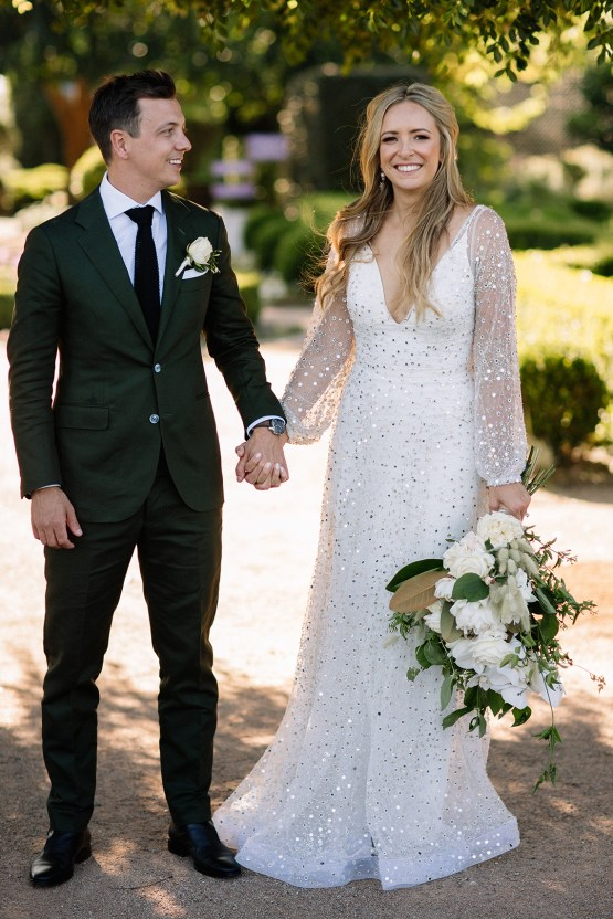 Chic Australian Garden Wedding with A Sparkling Wedding Dress – David Campbell Imagery 20