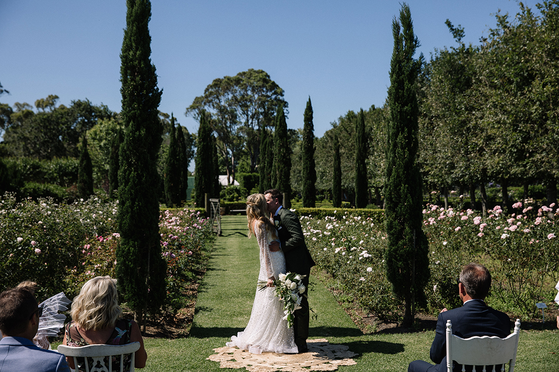 Chic Australian Garden Wedding with A Sparkling Wedding Dress – David Campbell Imagery 3