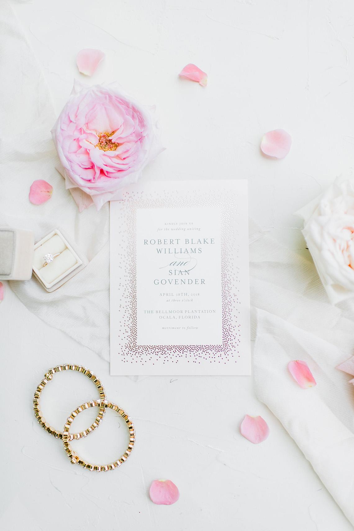 Elegant Blush Southern Plantation Wedding – Molliner Photography 5