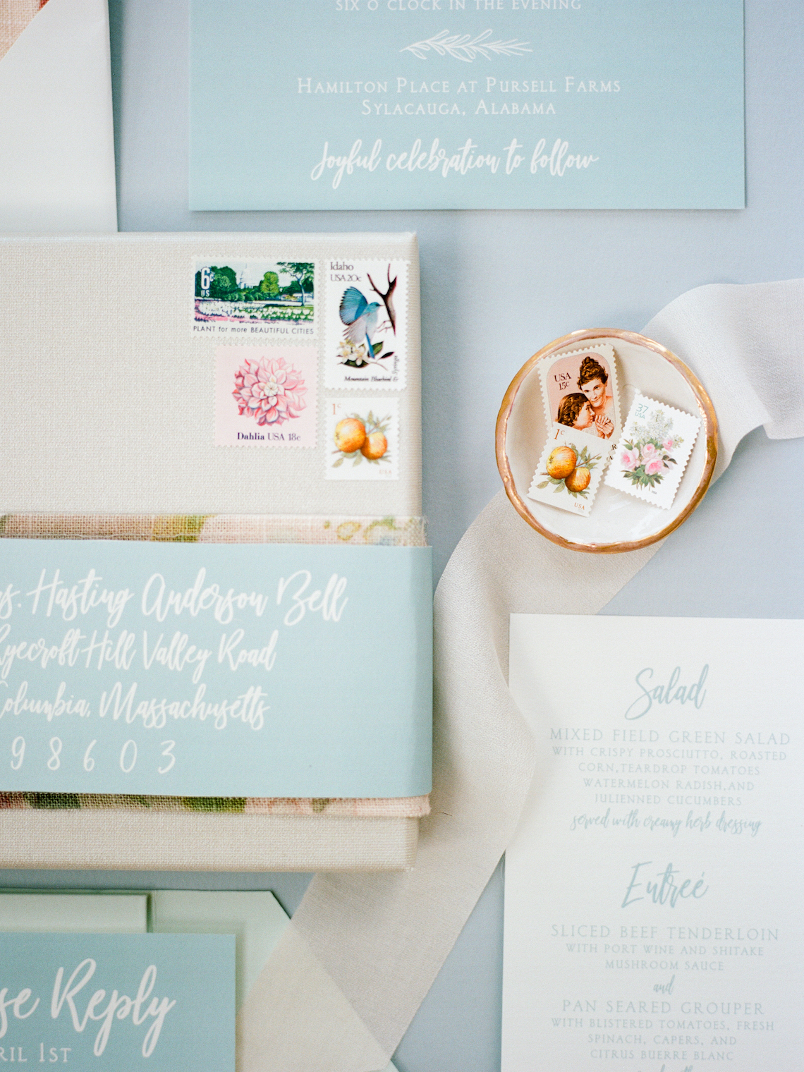 Feminine Floral-Filled Alabama Wedding Inspiration with a Getaway Bicycle – Davy Whitener 13