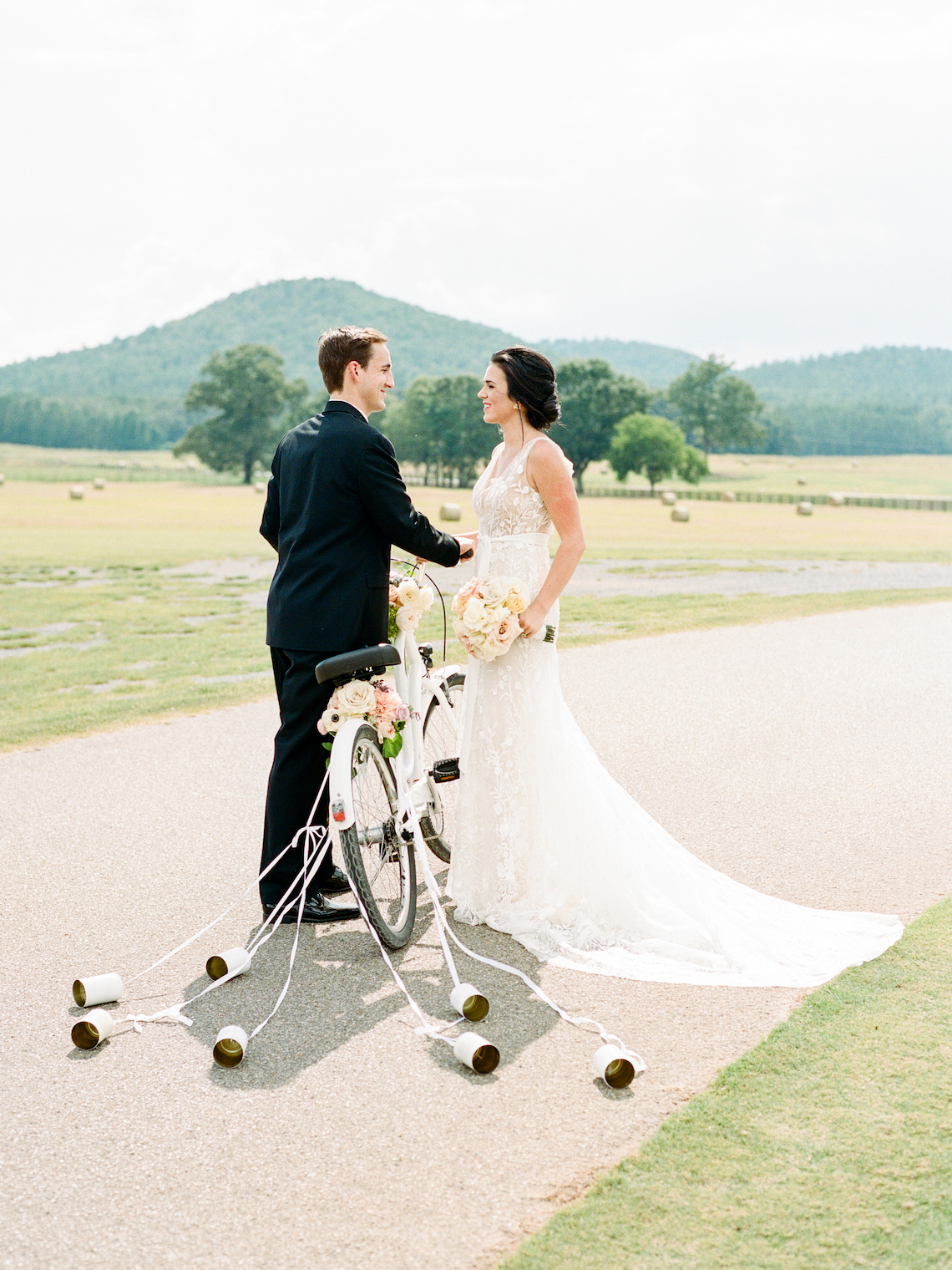 Feminine Floral-Filled Alabama Wedding Inspiration with a Getaway Bicycle – Davy Whitener 31