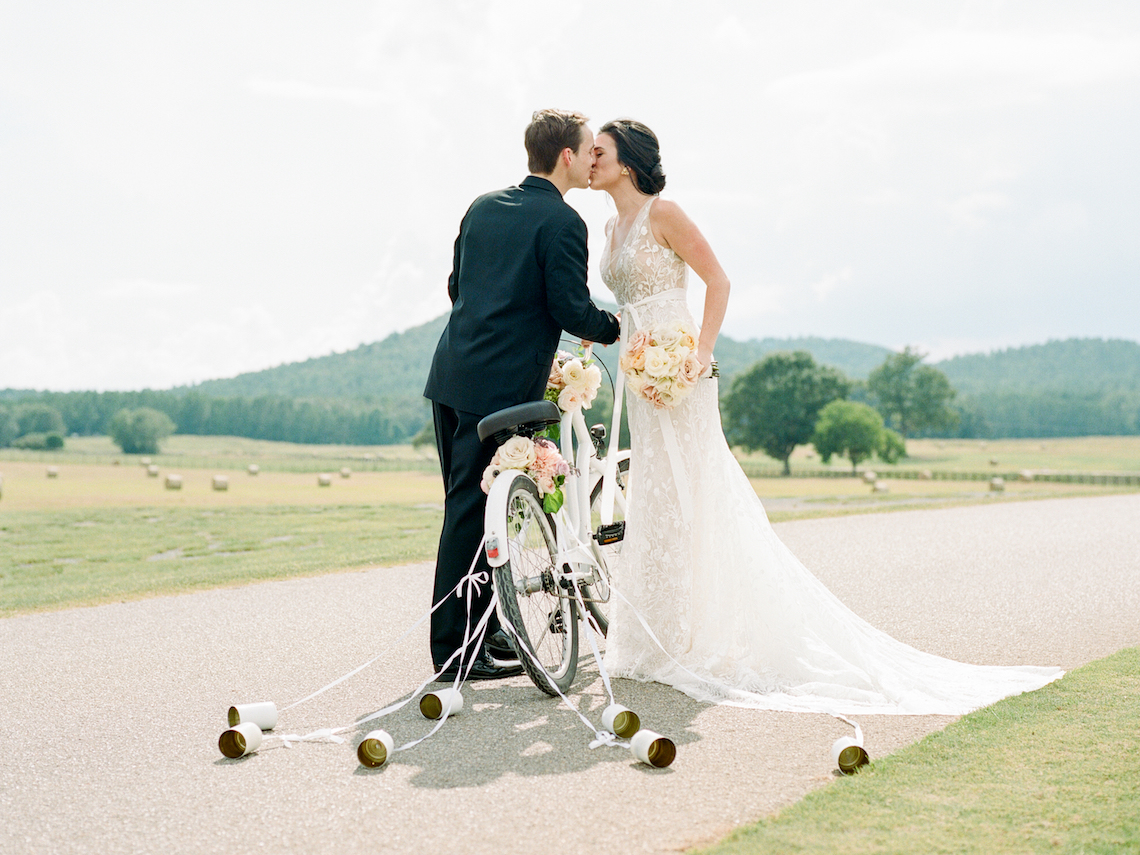 Feminine Floral-Filled Alabama Wedding Inspiration with a Getaway Bicycle – Davy Whitener 32