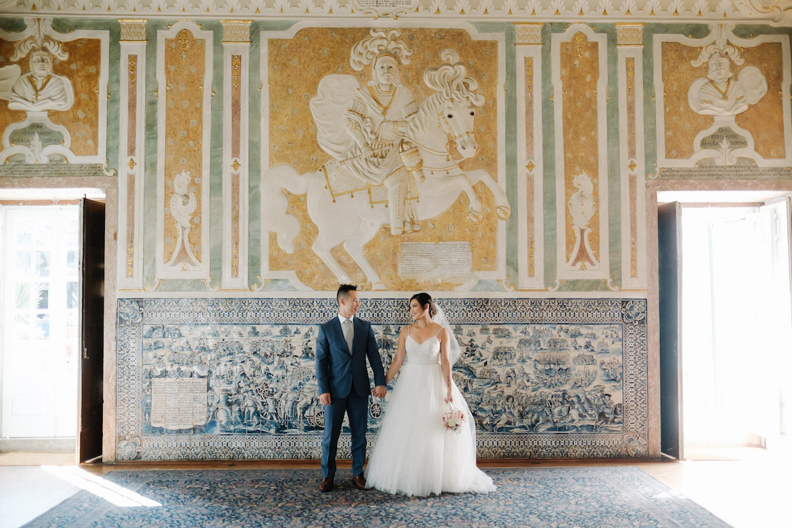 Historical Blue-tiled Palace Destination Wedding in Portugal – Jesus Caballero Photography 28