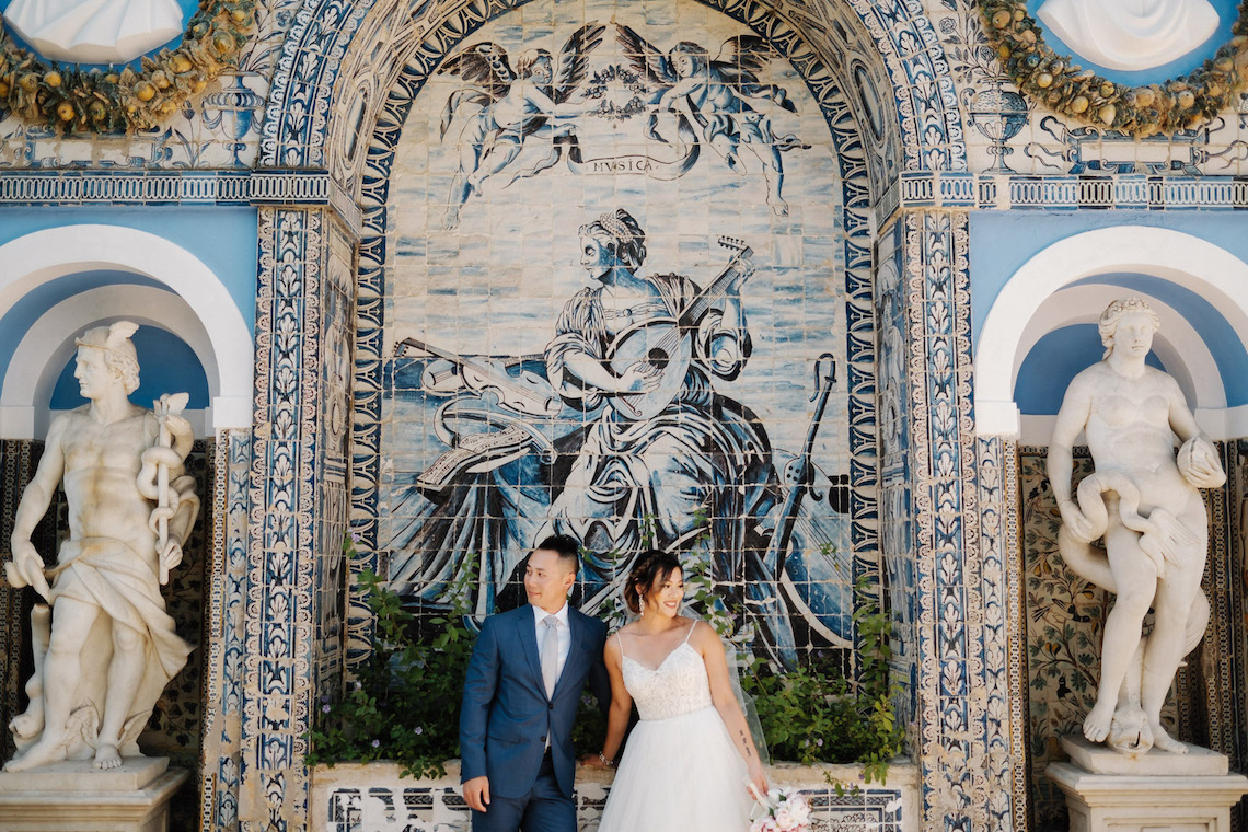 Historical Blue-tiled Palace Destination Wedding in Portugal – Jesus Caballero Photography 30