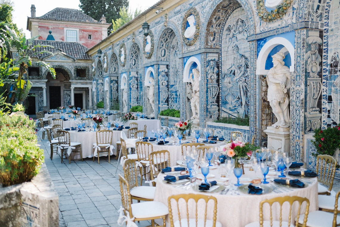 Historical Blue-tiled Palace Destination Wedding in Portugal – Jesus Caballero Photography 37