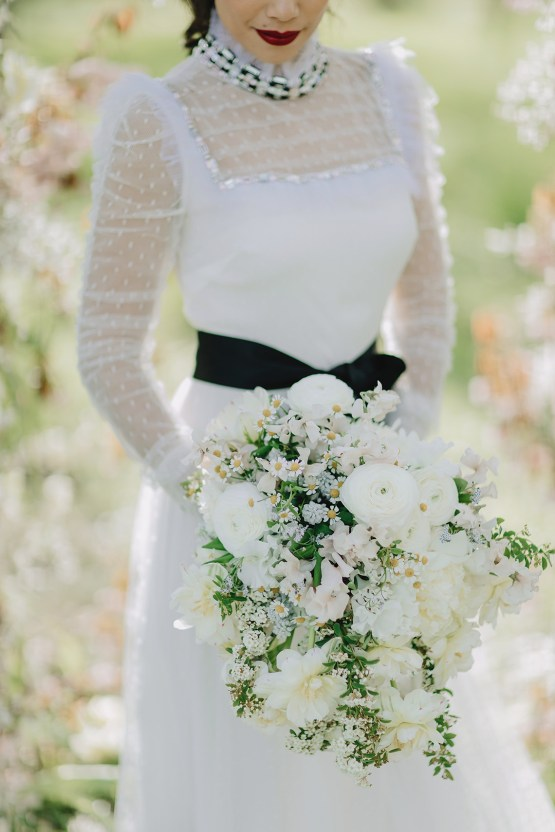 Sexy French Chateau Wedding Inspiration with a Red Wedding Dress – JuMi Story 20