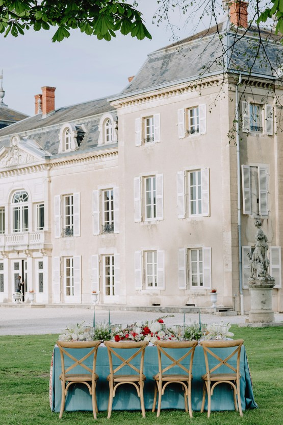 Sexy French Chateau Wedding Inspiration with a Red Wedding Dress – JuMi Story 57