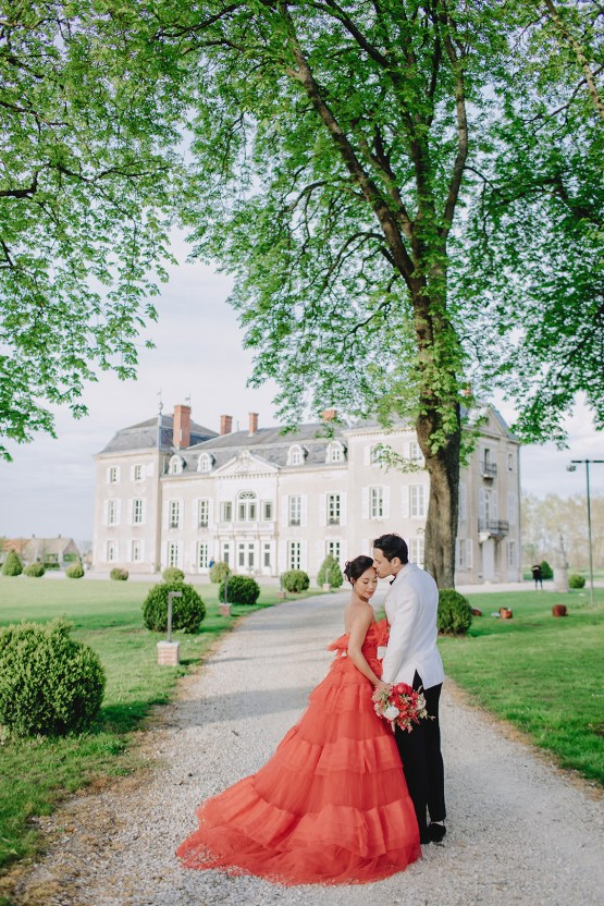 Sexy French Chateau Wedding Inspiration with a Red Wedding Dress – JuMi Story 72