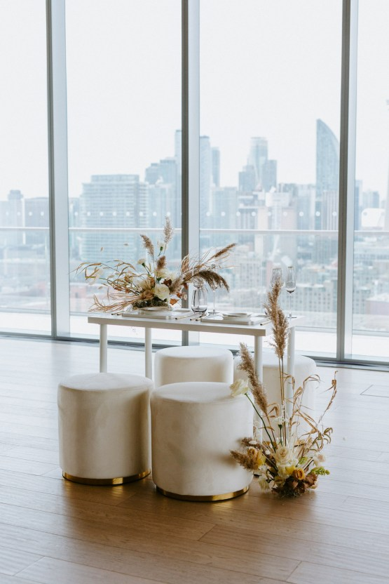 Chic Fall Loft Wedding Inspiration from Toronto – Shannon Robbins Photography – June Bloom Events 11