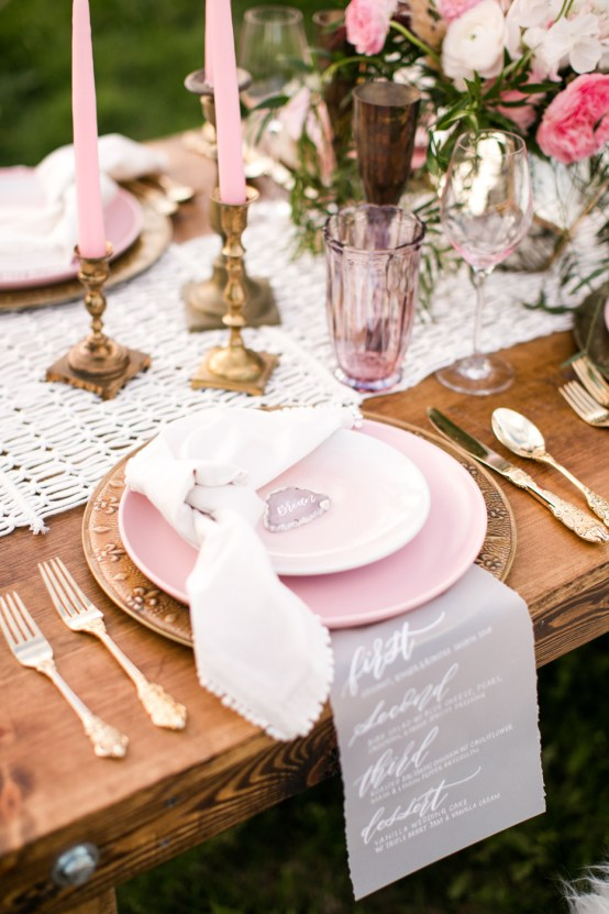 Pink Boho Farm Wedding Inspiration filled with Pretty Details – Carrie McCluskey Photo 10