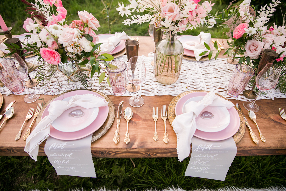 Pink Boho Farm Wedding Inspiration filled with Pretty Details – Carrie McCluskey Photo 40