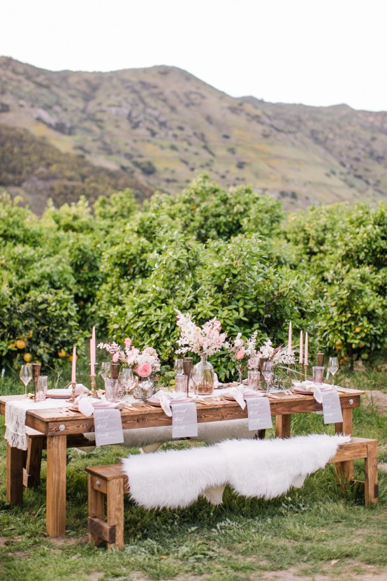 Pink Boho Farm Wedding Inspiration filled with Pretty Details – Carrie McCluskey Photo 9