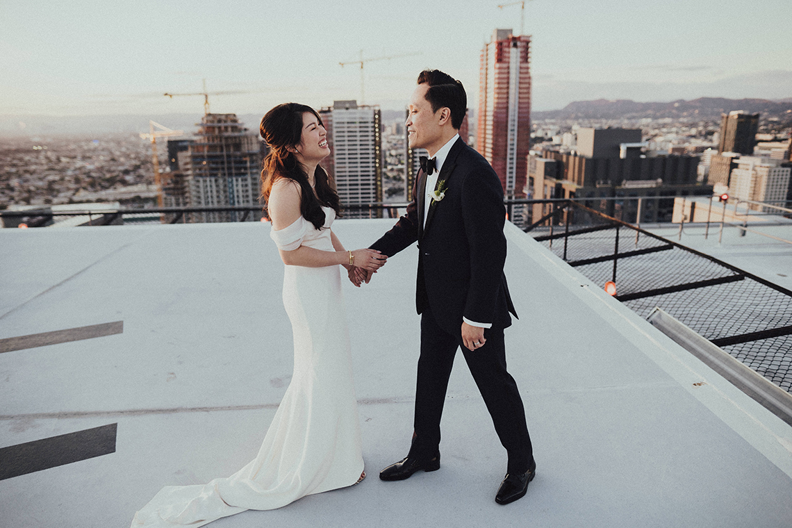 Los Angeles Rooftop Wedding with Incredible Views – Tyler Branch – CCL Weddings and Events 13