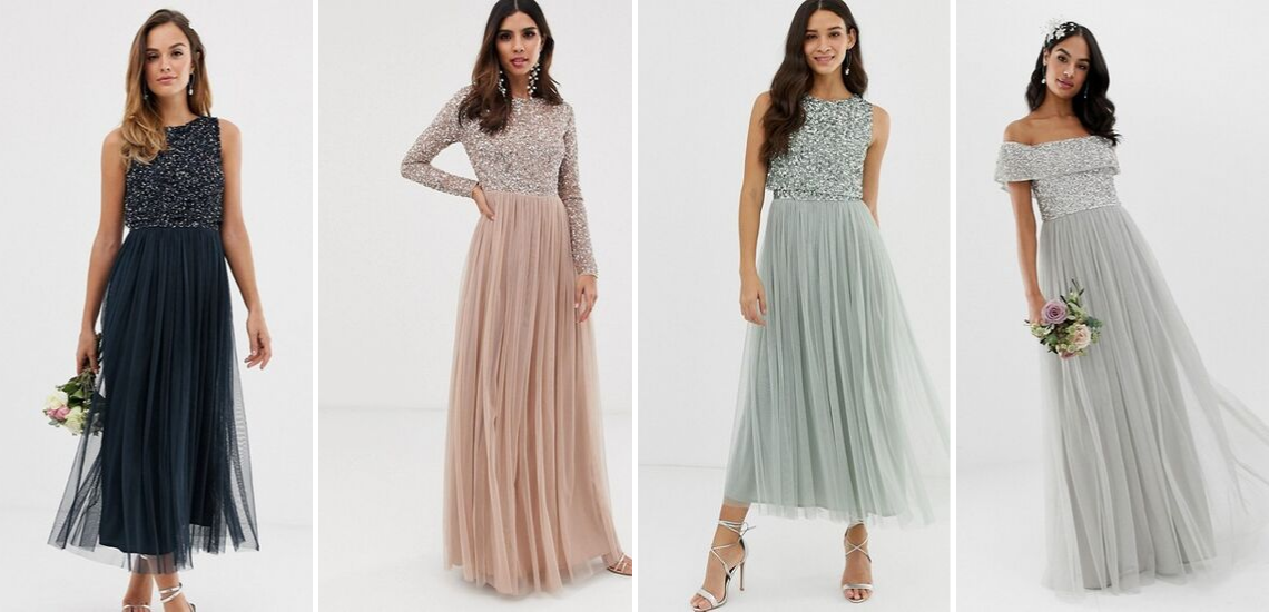The Best Websites to Buy Bridesmaid Dresses Online – ASOS Maya Sparkling Dress